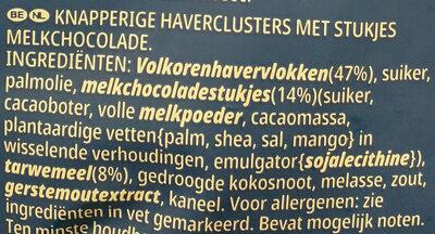 Extra chocolat au lait - Ingrediënten - nl