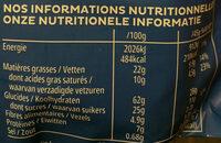 Extra chocolat au lait - Valori nutrizionali - fr