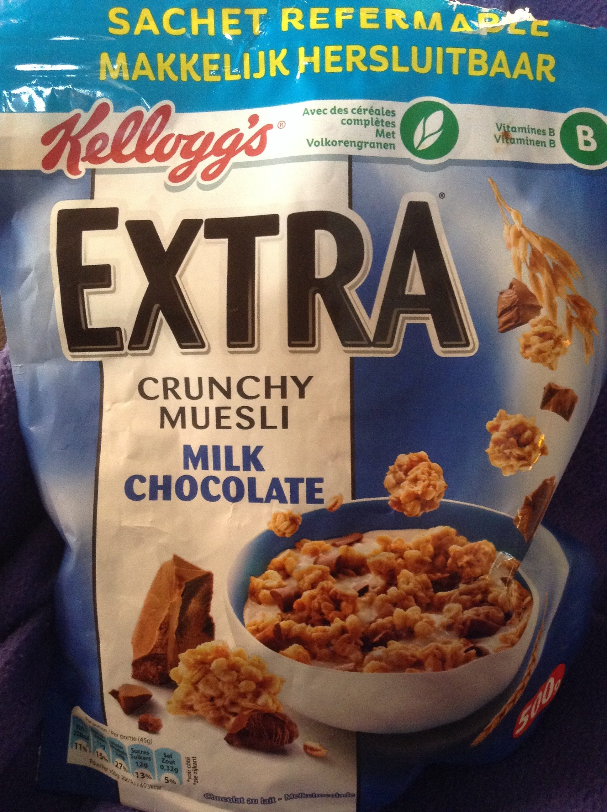Extra - Crunchy Muesli - Milk Chocolate - Product