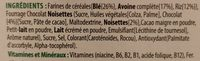 Trésor chocolat noisette - Ingredients