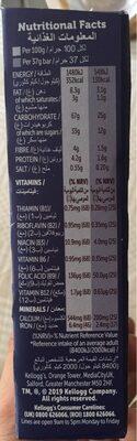 Nutri grain bar, blueberry flavour - Nutrition facts