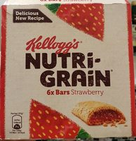 Kelloggs Nutrigrain Strawberry 6 Pack - Produit - fr
