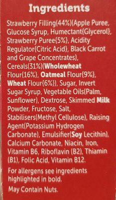 Kelloggs Nutrigrain Strawberry 6 Pack - Ingrédients - fr