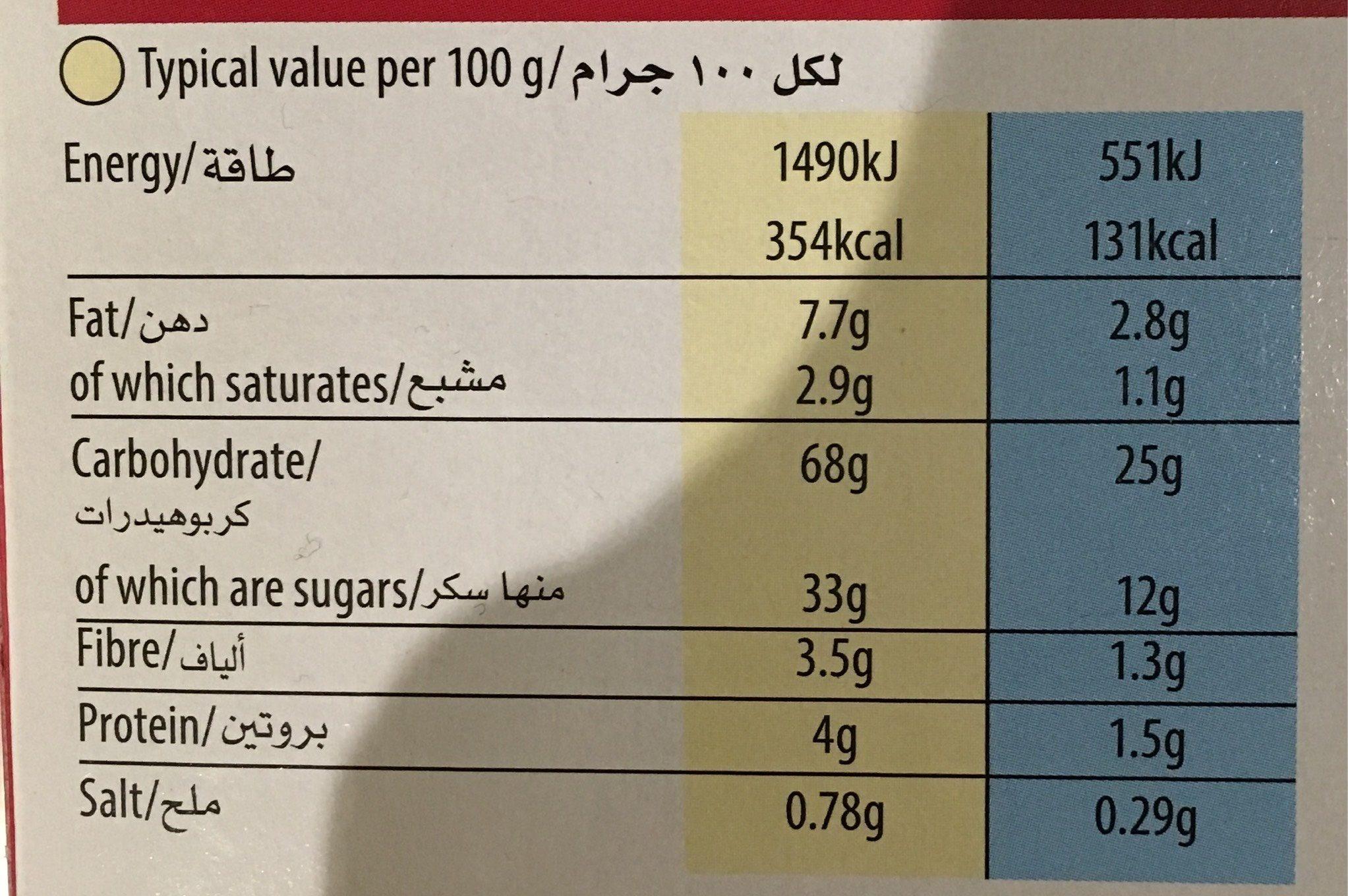 Kelloggs Nutrigrain Strawberry 6 Pack - Informations nutritionnelles - fr