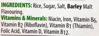 Rice Krispies - Ingredients