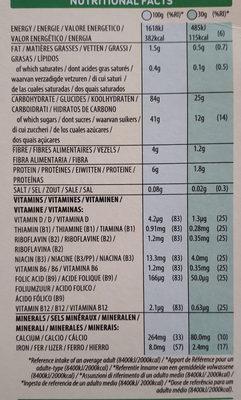 Smacks - Informació nutricional