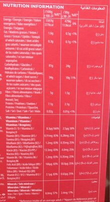 Smacks With Honey - Informations nutritionnelles - fr