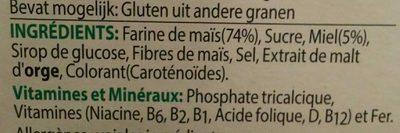 Honey Pops - Ingrediënten - fr