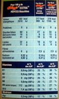 Extra - Pépites Biscuitées - Nutrition facts - fr