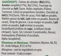 Trésor - Ingredients
