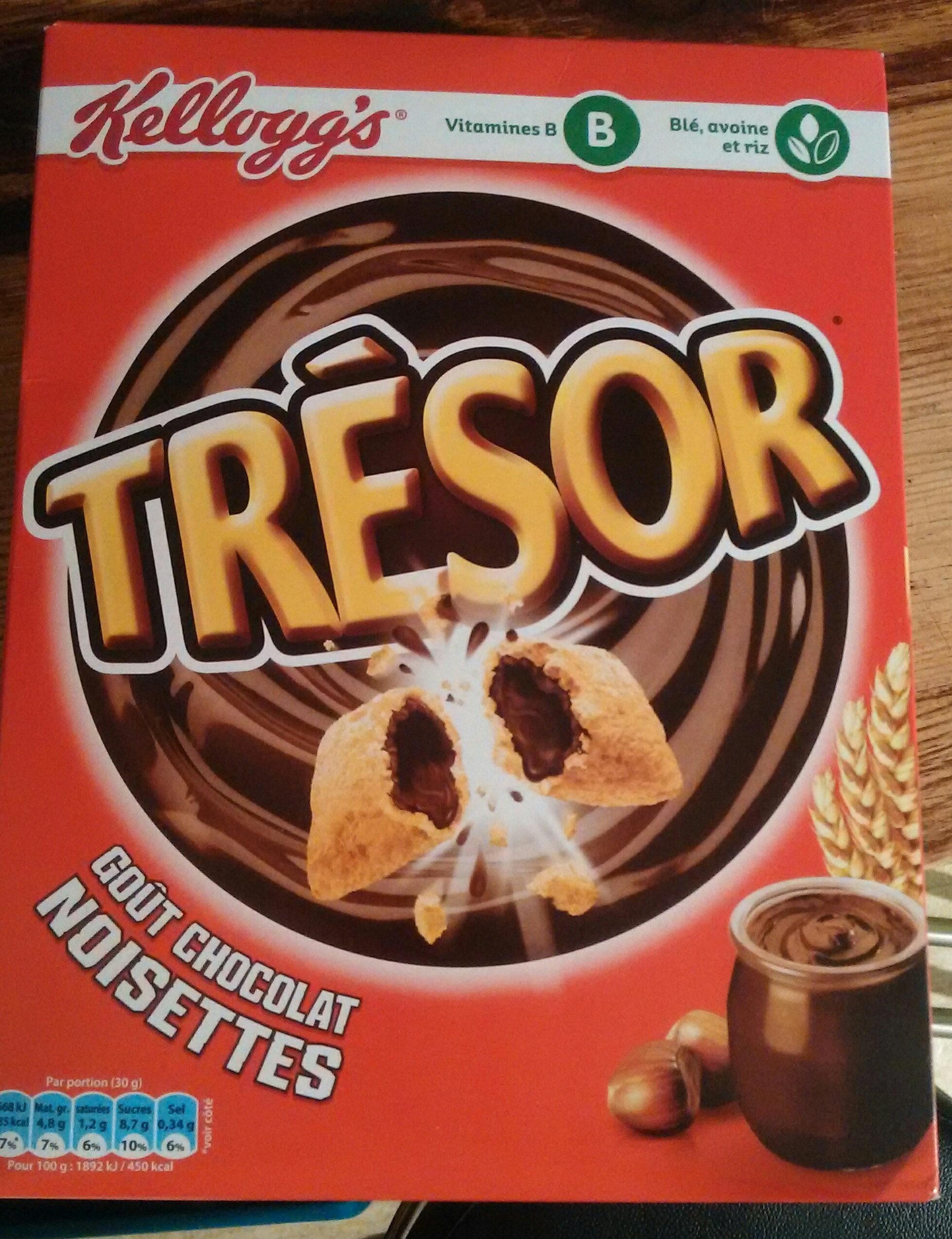 Trésor goût Chocolat Noisettes - Produit - fr