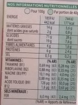Nutri-Grain Croustillant de Céréales Biscuité - Nutrition facts