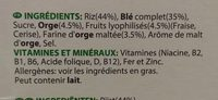 Spécial K Fruits Rouges - Ingredients - fr