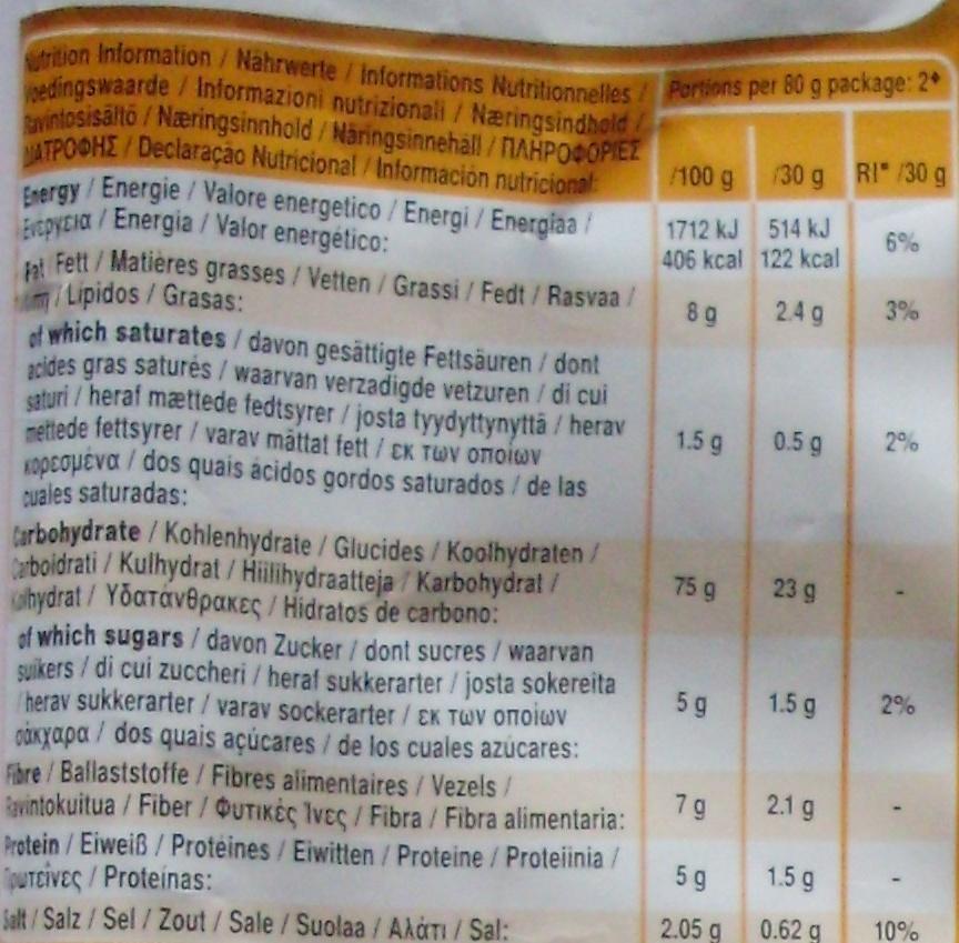 Cracker Crisps Paprika (60 % de matières grasses en moins) - Informations nutritionnelles - fr