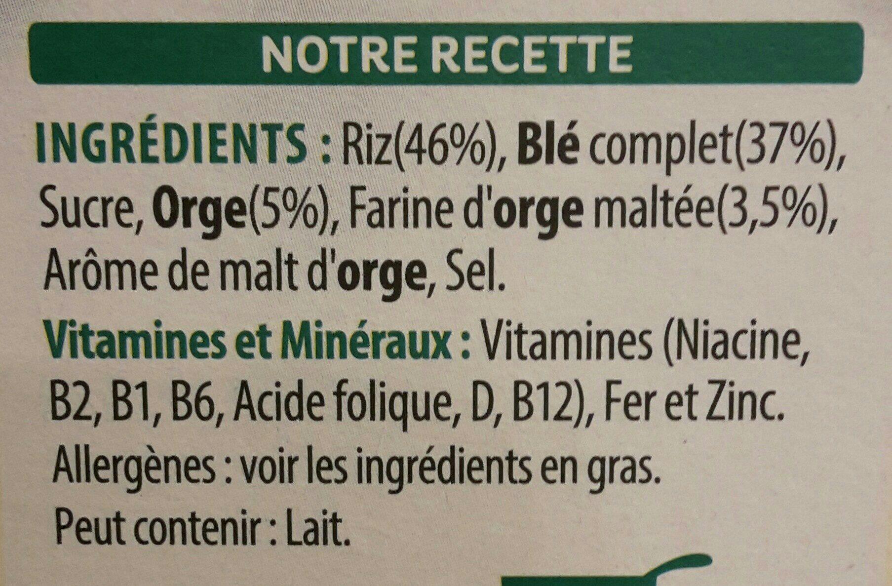 Spécial K Nature - Ingrédients