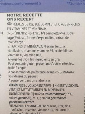 Spécial K Nature - Ingrédients - fr