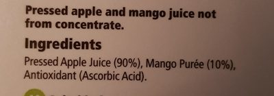 Tesco Apple And Mango Juice Not From Concentrate 1 Litre - Ingredients