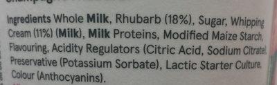 Champagne Rhubarb Yogurt - Ingredients - en