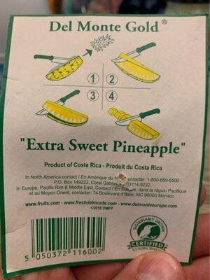 Ananas Extra Sweet - Origine Costa Rica Ea - Ingrediënten - es