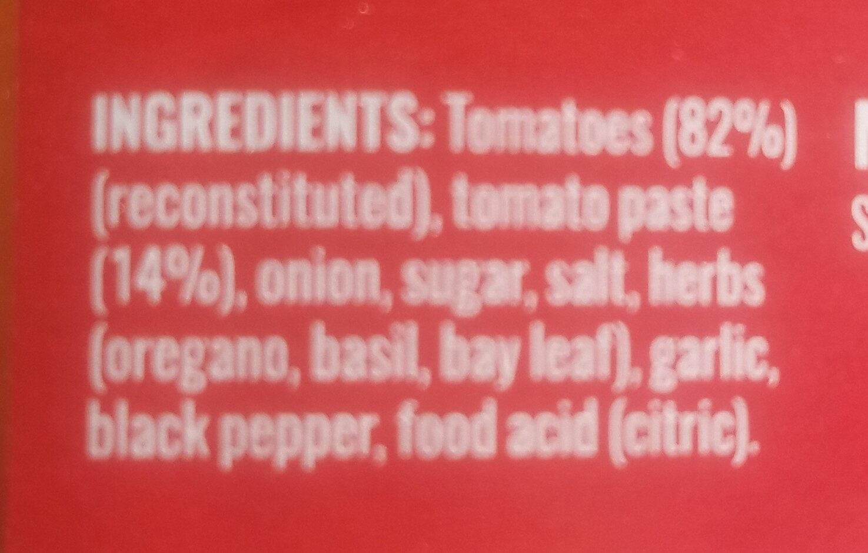 Raguletto Bolognese classic tomato - Ingredients - en