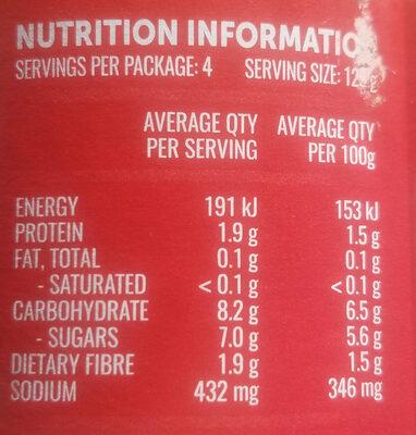 Raguletto Bolognese classic tomato - Nutrition facts - en
