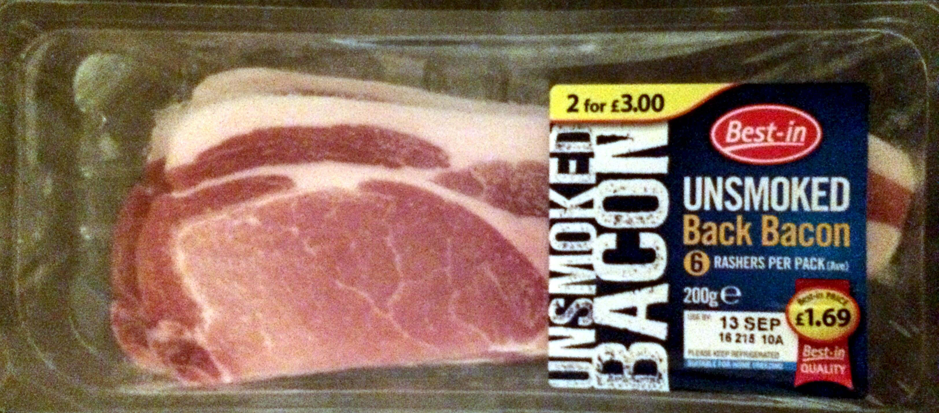 unsmoked bacon - Product