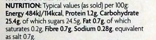 Burger Relish - Nutrition facts - en