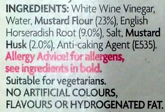 Tewkesbury Mustard - Ingredients