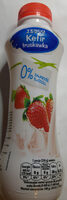 Kefir truskawkowy 0% - Produkt - pl