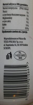 Kefir owoce leśne 0% - Nutrition facts - pl
