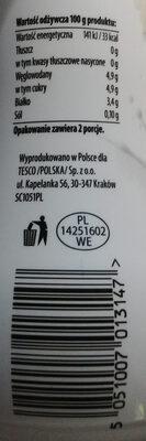 Kefir naturalny 0 %. - Wartości odżywcze - pl