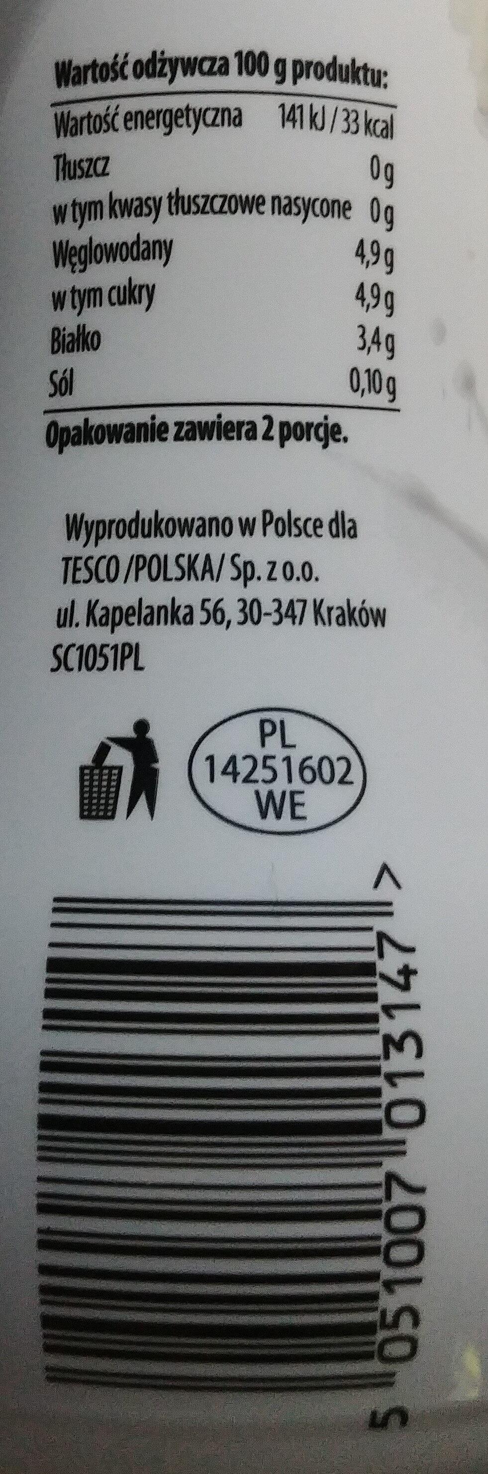 Kefir naturalny 0 %. - Wartości odżywcze