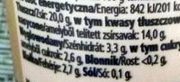 FreeForm Laktózmentes Tejföl 20% - Informations nutritionnelles - hu