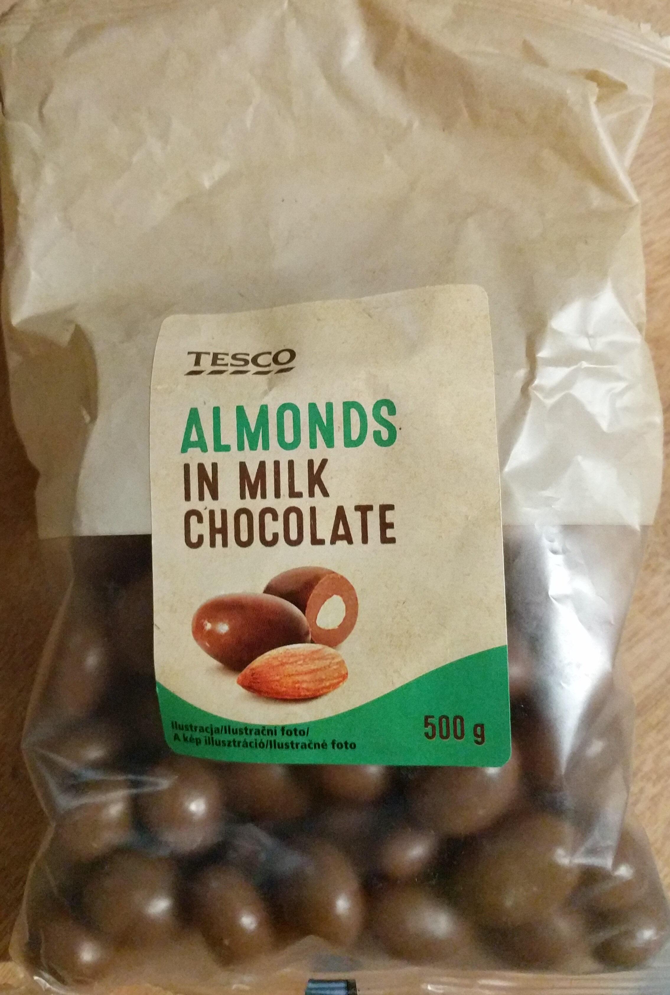 Almonds in Milk Chocolate - Produit - en