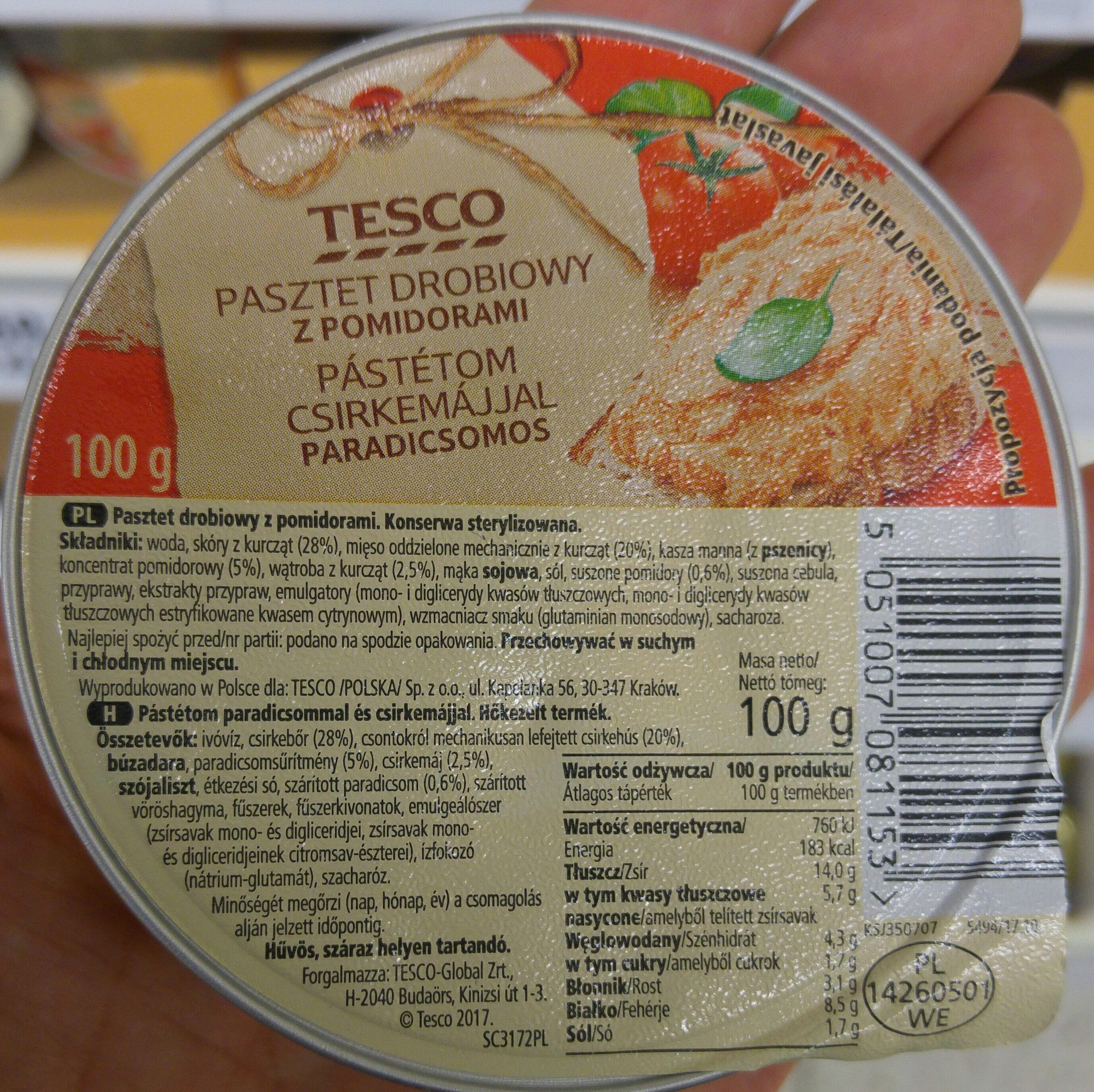Pasztet drobiowy z pomidorami - Produkt - pl