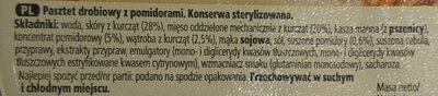 Pasztet drobiowy z pomidorami - Składniki - pl