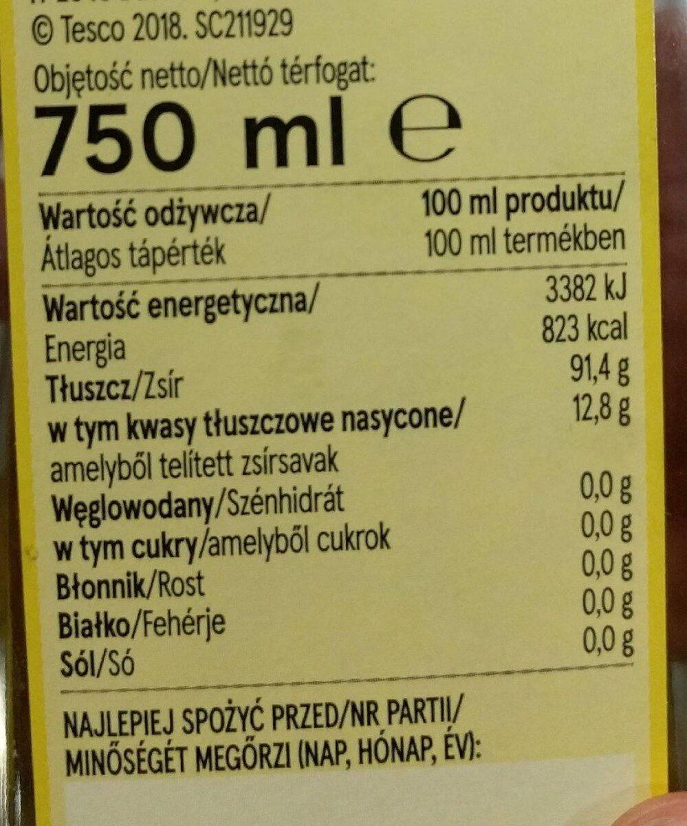 Olive oil - Voedingswaarden