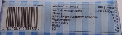 Smalec wieprzowy - Wartości odżywcze