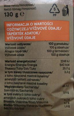 Chipsy ziemniaczane o smaku bekonowym. - Wartości odżywcze