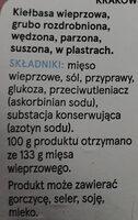 Krakowska sucha wieprzowe - Składniki