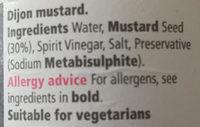 Dijon Mustard - Ingredients