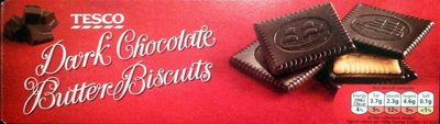 Dark chocolate butter biscuits - Product