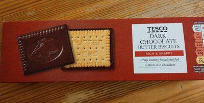 Dark chocolate butter biscuits - Produit - fr