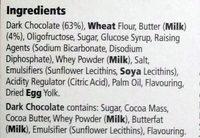 Dark chocolate butter biscuits - Ingredients
