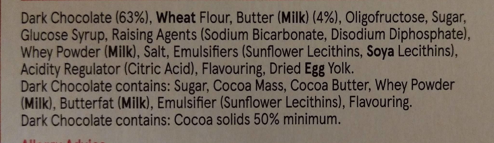 Dark chocolate butter biscuits - Ingrédients - fr