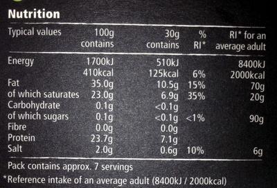 Mature blue Stilton - Nutrition facts - en