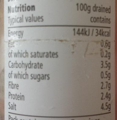 Garlic Cloves in Brine - Informations nutritionnelles