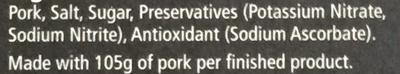 Smoked Streaky Dry Cure Bacon - Ingredients - en