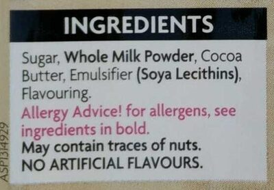 White chocolate - Ingredients