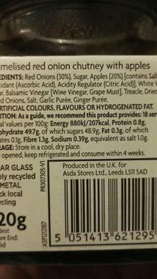 Chutney - Ingrédients